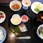 ウエスティン都ホテル京都 - 1日目の朝食(日本食、ご飯)