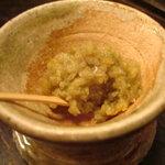 食と酒 いちたろう - 白菜と豚肉のタジン鍋に付いてくる柚子胡椒