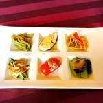 陶陶 - 幸せランチの前菜の盛り合わせ