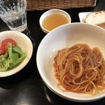 イタリアンバー フォルツァ - 食べログワンコインランチ \500 プッタネスカソースのパスタランチ