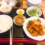 62495467 - 酢豚定食(650円)