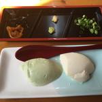 とうふの飛太郎 - 料理写真:まず最初に  寄せ豆腐・枝豆豆腐