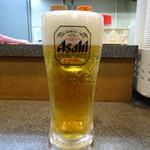 名代きしめん 住よし - 生ビール(390円)