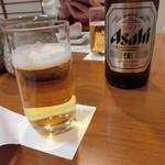 割烹 味香佐 - アサヒビール中瓶650円