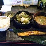 6250199 - 「サーモンハラミ焼き定食」780円