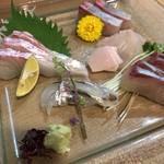 鮨 清水 - お造り盛り合わせ