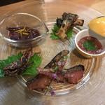 鮨 清水 - 肴盛り