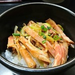 麺処 晴 - 豚めし・小 200円