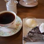 喫茶 ほんまち - チョコレートケーキ。