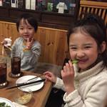 たび屋 - 子供達もピザに大喜び❤︎