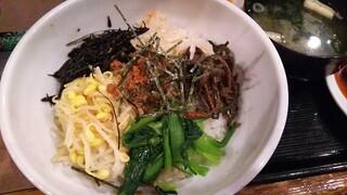 焼肉苑 麻布十番店 - ビビンバのアップ(2017/2/11)