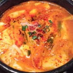 62514063 - 純豆腐チゲのアップ。