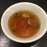 肉あんかけチャーハン 炒王 - スープ