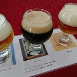 瓢湖屋敷の杜ブルワリー ザ レストランスワンレイク - 試飲コース3種類
