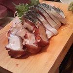 かわなみ鮨 - 〆鯖、タコ