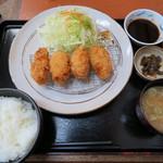 とんかつまい泉 - カキフライ定食
