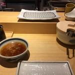 天ぷらまきの - 目の前に天ぷら