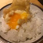 天ぷらまきの - ご飯の上にのっけて