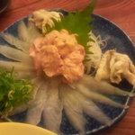 居酒屋 海 - かわはぎの刺身
