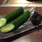 戸田亘のお好み焼 さんて寛 - きゅうりの一本漬