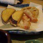 天ぷら割烹 和 - サツマイモ、人参
