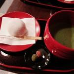 菓舗 カズナカシマ - 苺大福と抹茶セット¥1,300