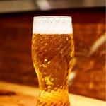炭火割烹 蔓ききょう - 生ビール