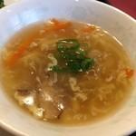 中国料理 龍鱗 - お替り自由のスープ☆