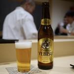 鮨 はしもと - ドリンク写真:ビールはエビス