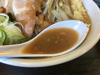 ラーメンどでん 大宮西口店 - スープ
