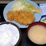 乃んき食堂 - 本日のサービス品 とんかつ定食 650円