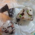 こめらく - おむじゃこ、鮭ひじきの混ぜごはん、枝豆と昆布の混ぜごはん
