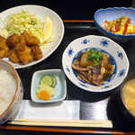 おいしい台所12カ月 - 〔日替ランチ〕おいしい12ヶ月の唐揚げ定食(¥800)。いか大根・ウィンナーエッグ付きで盛り沢山の内容♪