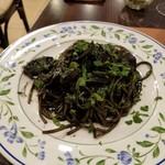 オステリア オリーヴァ ネーラ トウキョウ - 「本物」のイカスミのスパゲッティ