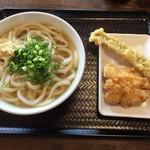 香川製麺所 - かけ大&アナゴ天・とり天