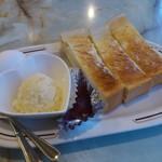 喫茶店さくら - モーニングAセット~ジャムバタートーストです。(2017年2月)