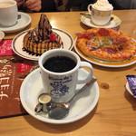 コメダ珈琲店 - ブレンドコーヒー・ミニクロノワール・特製ピザ