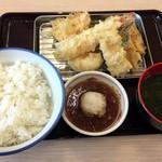 さん天 - 料理写真:グランドスラム海老天ぷら定食