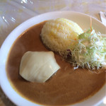 カレーハウス芳柳 - ハンバーグカレー