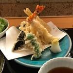 穂の花 - 軽やかに揚がった天ぷら