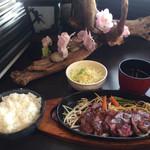 62562219 - ビーフステーキ定食(700円)