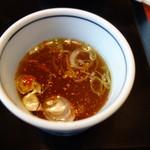 丸嘉 - 蕎麦湯タイムなので葱と唐辛子を