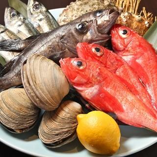 新鮮な魚介類を厳選入荷