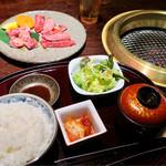 62583334 - ランチセット「焼肉壱番」(1350円)