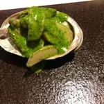 イタリア料理 リストランテ フィッシュボーン - 鮑のヴァポーレ  香草ガーリックバターソース  美味❤
