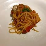イタリア料理 リストランテ フィッシュボーン - 渡り蟹のペパッティーネ  濃厚トマトソース   アルデンテ感とソースの絡みが抜群の一皿❤