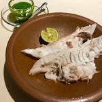 イタリア料理 リストランテ フィッシュボーン - すだちと香草のソースで頂きます(^○^)