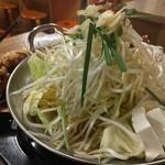 倉庫酒場もっちゃん - モツ鍋 味噌