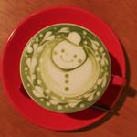 イクジーノ カフェ - 2017年2月再訪:抹茶ラテ☆