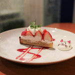 イクジーノ カフェ - 2017年2月再訪:苺タルト☆